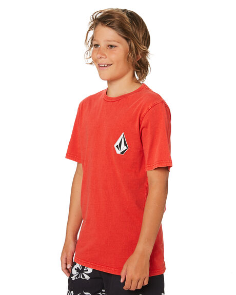 WHY ROCK RED KIDS BOYS VOLCOM TOPS - C4341873WRR