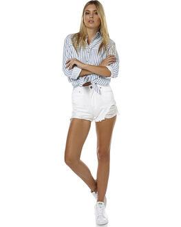 WHITE SALT WOMENS CLOTHING A.BRAND SHORTS - 70193-3379WHTS1