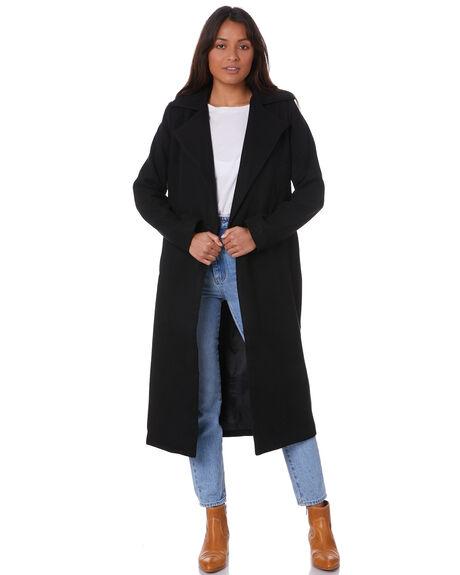 BLACK WOMENS CLOTHING SNDYS JACKETS - SFJ059_BLK