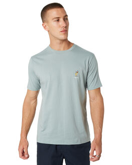 TEAL MENS CLOTHING BARNEY COOLS TEES - 117-CC2-TEAL