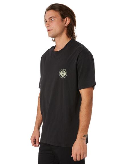 WASHED BLACK MENS CLOTHING GLOBE TEES - GB01910004WBLK