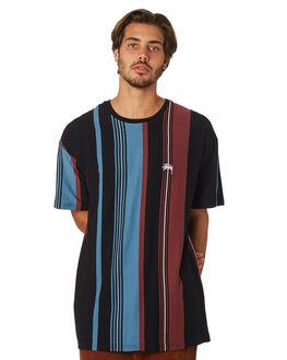 BLACK MENS CLOTHING STUSSY TEES - ST097106BLK