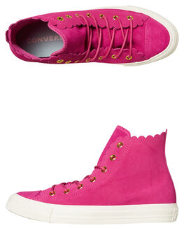 ACTIVE FUCHSIA WOMENS FOOTWEAR CONVERSE SNEAKERS - 563424AFUS