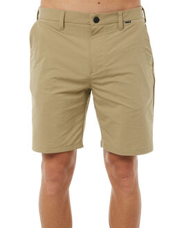 KHAKI MENS CLOTHING HURLEY SHORTS - 895076235