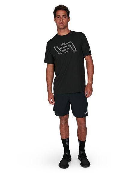 BLACK MENS CLOTHING RVCA TEES - RV-R307044-BLK