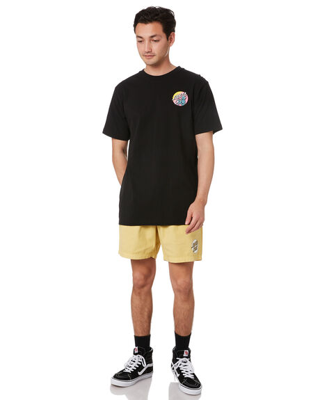 BLACK MENS CLOTHING SANTA CRUZ TEES - SC-MTC0664BLK
