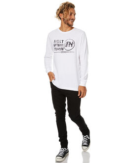 WHITE MENS CLOTHING RVCA TEES - R174098WHT