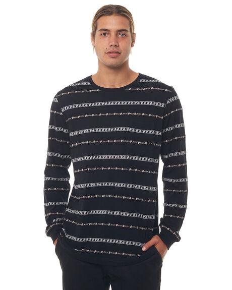 BLACK MENS CLOTHING RVCA TEES - R184097BLK
