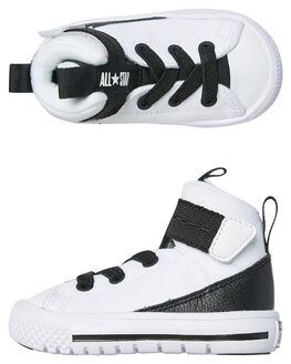 WHITE BLACK KIDS TODDLER BOYS CONVERSE FOOTWEAR - 761978WHBK