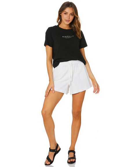 BLACK WOMENS CLOTHING SEAFOLLY TEES - 54061-TOBLK