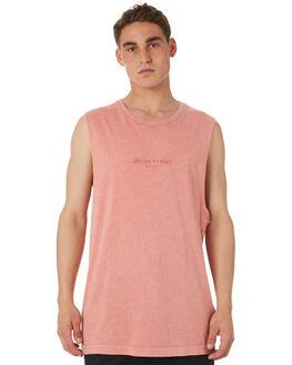 MELON MENS CLOTHING RVCA SINGLETS - R182011MEL