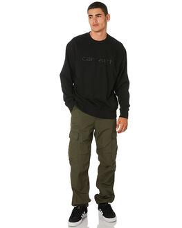 BLACK MENS CLOTHING CARHARTT JUMPERS - I025478BLK