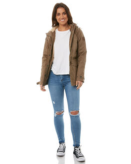 CANTEEN GREEN WOMENS CLOTHING ELEMENT JACKETS - 286304GRN