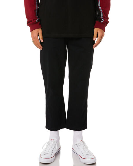 BLACK MENS CLOTHING STUSSY PANTS - ST095604BLK