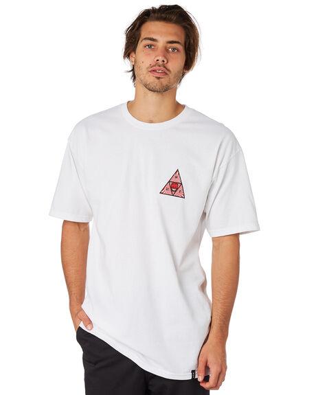 WHITE MENS CLOTHING HUF TEES - TS00656WHT
