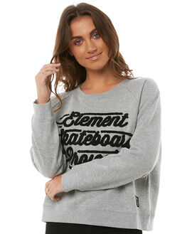 GREY HEATHER WOMENS CLOTHING ELEMENT JUMPERS - 286452G07