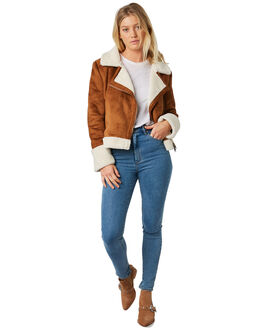 BROWN WOMENS CLOTHING ELWOOD JACKETS - W91513170