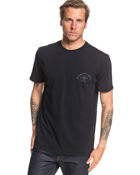 BLACK MENS CLOTHING QUIKSILVER TEES - EQYZT05703-KVJ0