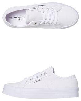 WHITE CANVAS WOMENS FOOTWEAR HUMAN FOOTWEAR SNEAKERS - LIFTWCNVS