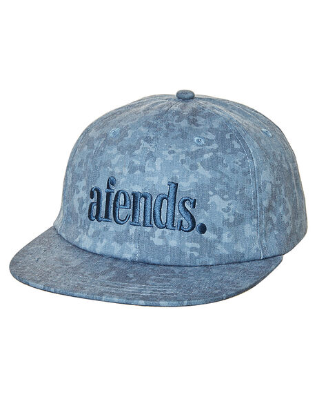 NAVY CAMO MENS ACCESSORIES AFENDS HEADWEAR - 13-08-022NVYC