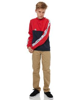 DARK INDIGO KIDS BOYS DC SHOES JUMPERS - EDBFT03132BYJ0