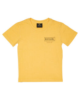 BRIGHT YELLOW KIDS BOYS RIP CURL TOPS - OTEJF99328