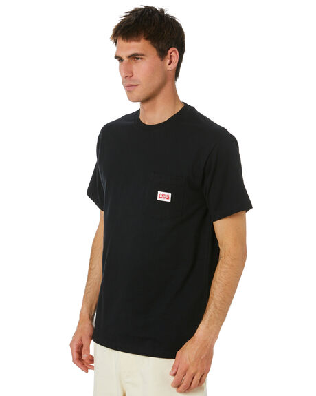 BLACK MENS CLOTHING XLARGE TEES - XL004002_BLK
