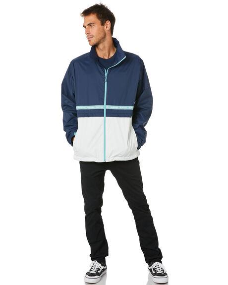 BLUE WHITE MENS CLOTHING BURTON JACKETS - 21730100400