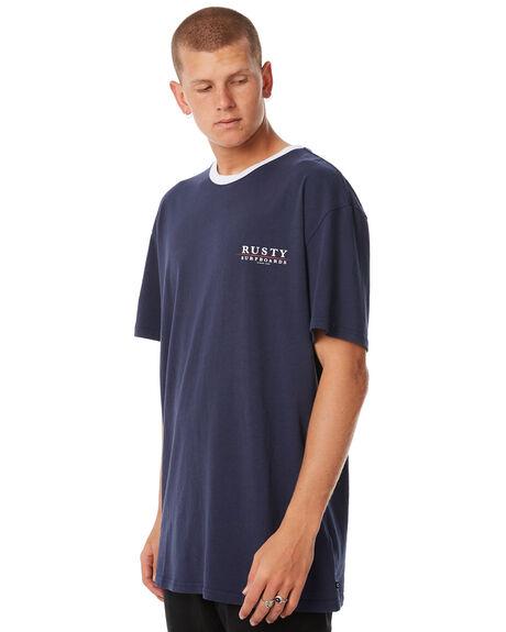 NAVY BLUE MENS CLOTHING RUSTY TEES - TTM1989NVB