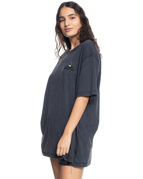 BLACK WOMENS CLOTHING QUIKSILVER TEES - EQWZT03041-KVJ0