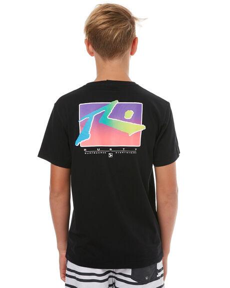 BLACK KIDS BOYS RUSTY TEES - TTB0561BLK