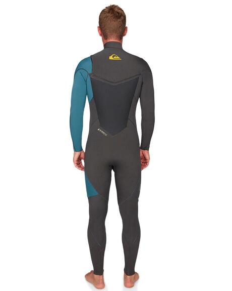 JET BLACK BLUE STEEL BOARDSPORTS SURF QUIKSILVER MENS - EQYW103060-XKBS