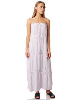 LILAC GINGHAM WOMENS CLOTHING ELWOOD DRESSES - W937206HM