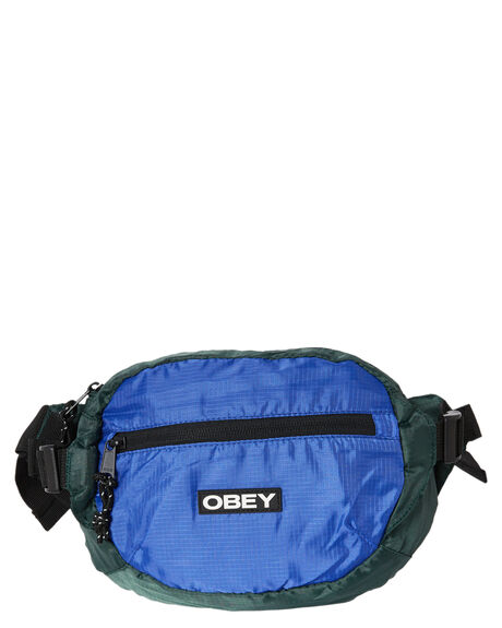 BLUE MULTI MENS ACCESSORIES OBEY BAGS + BACKPACKS - 100010126BMU