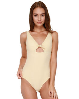 OCHRE STRIPES WOMENS SWIMWEAR ROXY ONE PIECES - ERJX103162YHV7