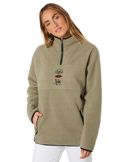 OLIVE WOMENS CLOTHING RIP CURL JUMPERS - GFEHI10058