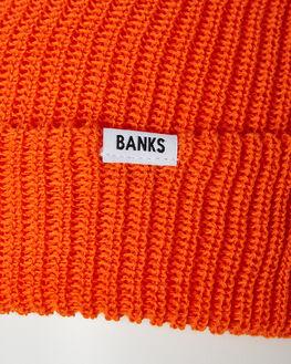 BURNT ORANGE MENS ACCESSORIES BANKS HEADWEAR - BE0039BOR