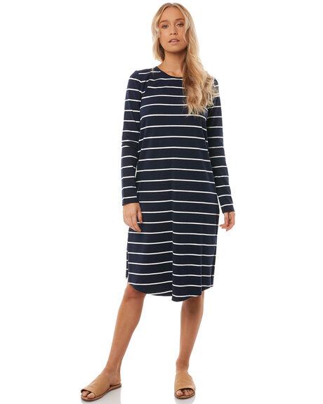 BLUE STRIPE WOMENS CLOTHING O'NEILL DRESSES - 4521605BLUS