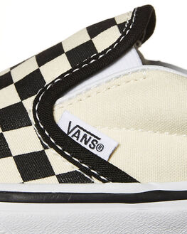 BLACK WHITE CHECK KIDS BOYS VANS FOOTWEAR - VN-0ZBUEO1BLKW