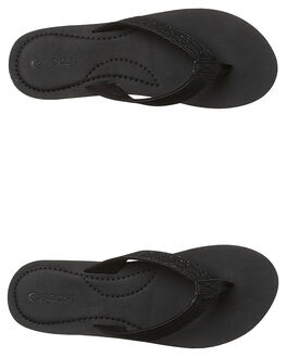 BLACK WOMENS FOOTWEAR RIP CURL THONGS - TGTGD10090