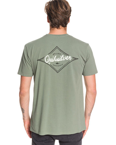 AGAVE GREEN MENS CLOTHING QUIKSILVER TEES - EQYZT05671-GZC0