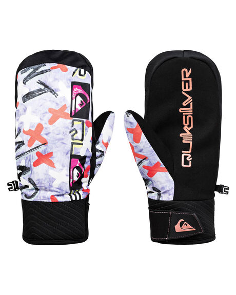 BLACK WARPAINT BOARDSPORTS SNOW QUIKSILVER GLOVES - EQYHN03129-KVM1