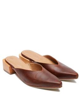 BROWN VINTG LEATHER WOMENS FOOTWEAR JAMES SMITH HEELS - 13666707BVL