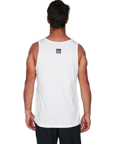 WHITE MENS CLOTHING RVCA SINGLETS - RV-R307003-WHT