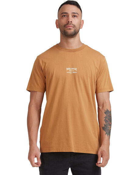 CAMEL MENS CLOTHING RVCA TEES - R115056-CAM