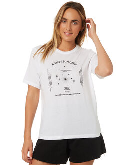 WHITE WOMENS CLOTHING HURLEY TEES - AR4966-100