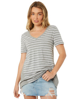 SILVER MARLE WHITE OUTLET WOMENS BETTY BASICS TEES - BB228S18SIL