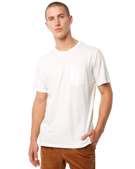 VINTAGE WHITE MENS CLOTHING KATIN TEES - KNBAS00VWHT