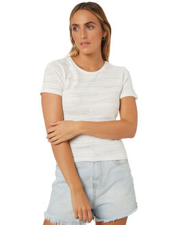 WHITE WOMENS CLOTHING ALL ABOUT EVE TEES - 6423014WHT
