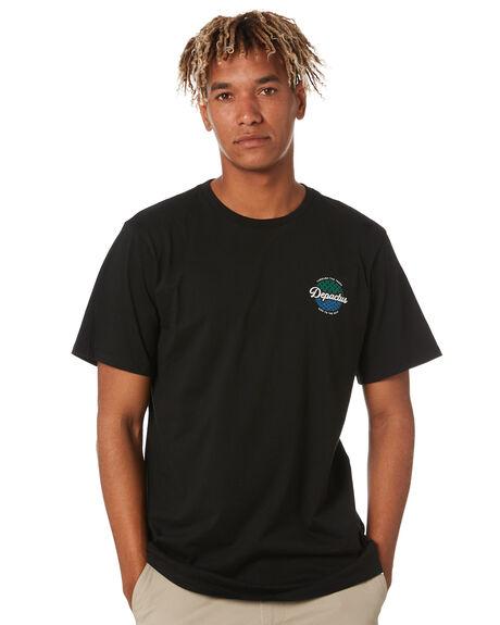 BLACK MENS CLOTHING DEPACTUS TEES - D5211003BLACK